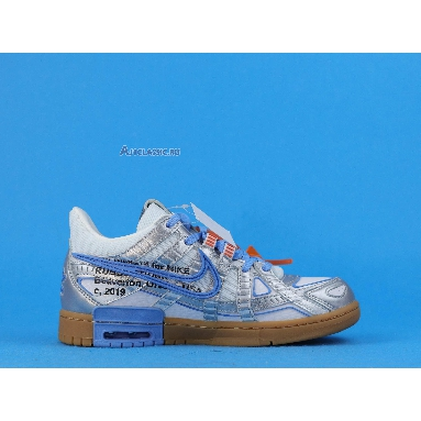 Off-White x Air Rubber Nike Dunk University Blue CU6015-100 Grey/University Blue Sneakers