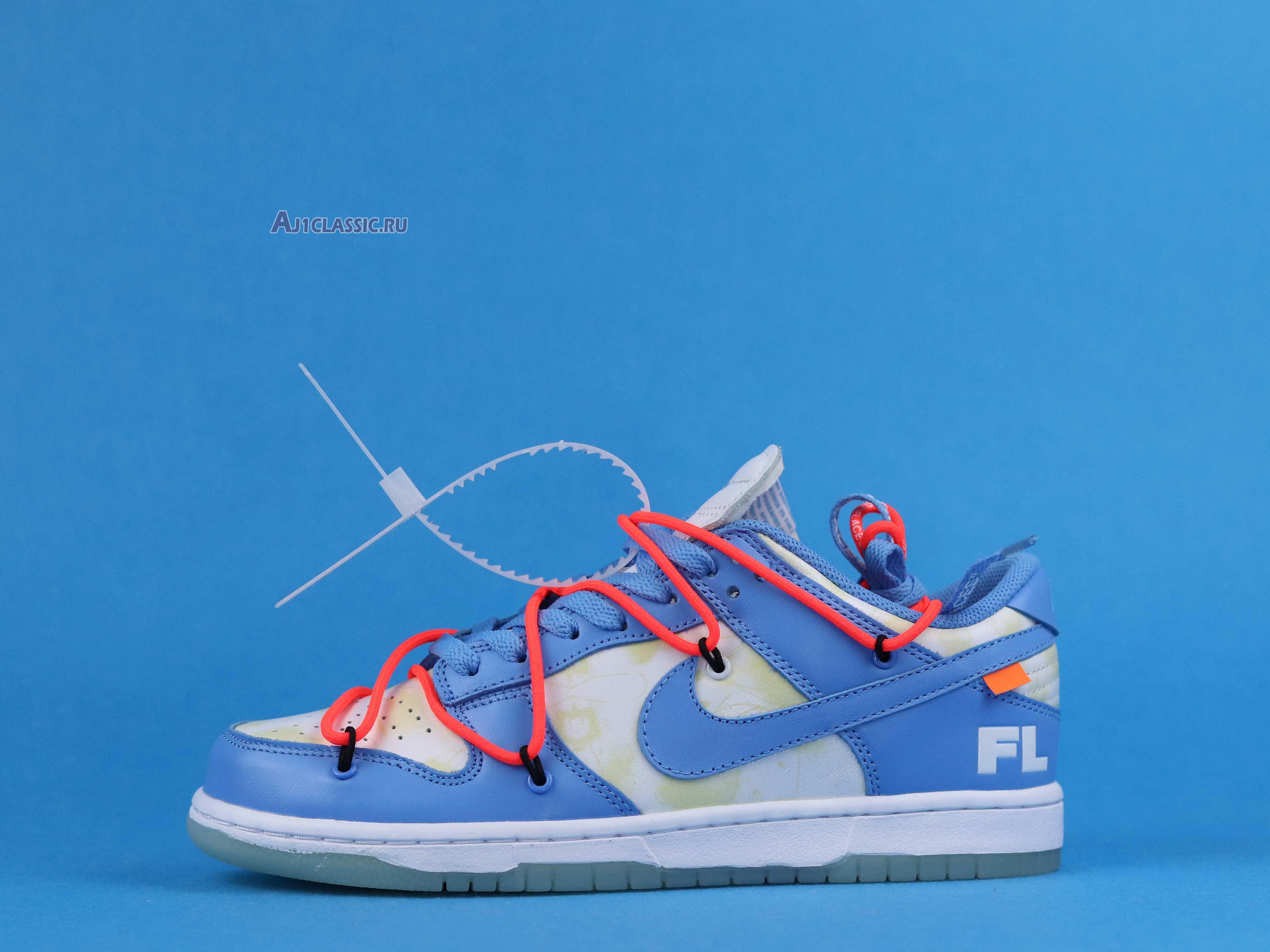 "Off-White x Futura x Nike Dunk Low SB ""UNC"" DD0856-403"