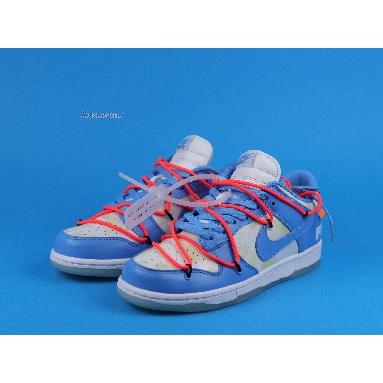 Off-White x Futura x Nike Dunk Low SB UNC DD0856-403 Dark Powder Blue/Dark Powder Blue/White/University Blue Sneakers