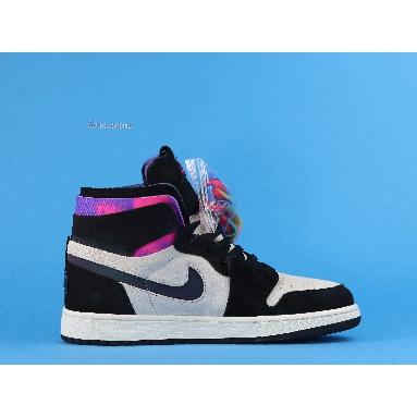 Paris Saint-Germain x Air Jordan 1 High Zoom Comfort Paris DB3610-105 White/Black/Psychic Purple/Hyper Pink Sneakers