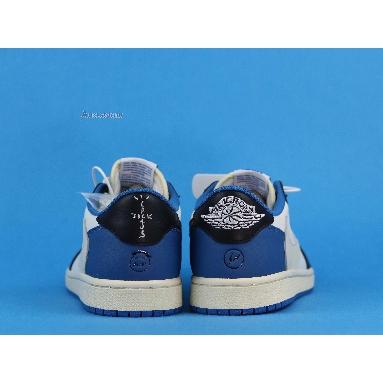 Travis Scott x fragment x Air Jordan 1 Low OG Military Blue CQ3227-105 Sail/Black-Military Blue/White Sneakers