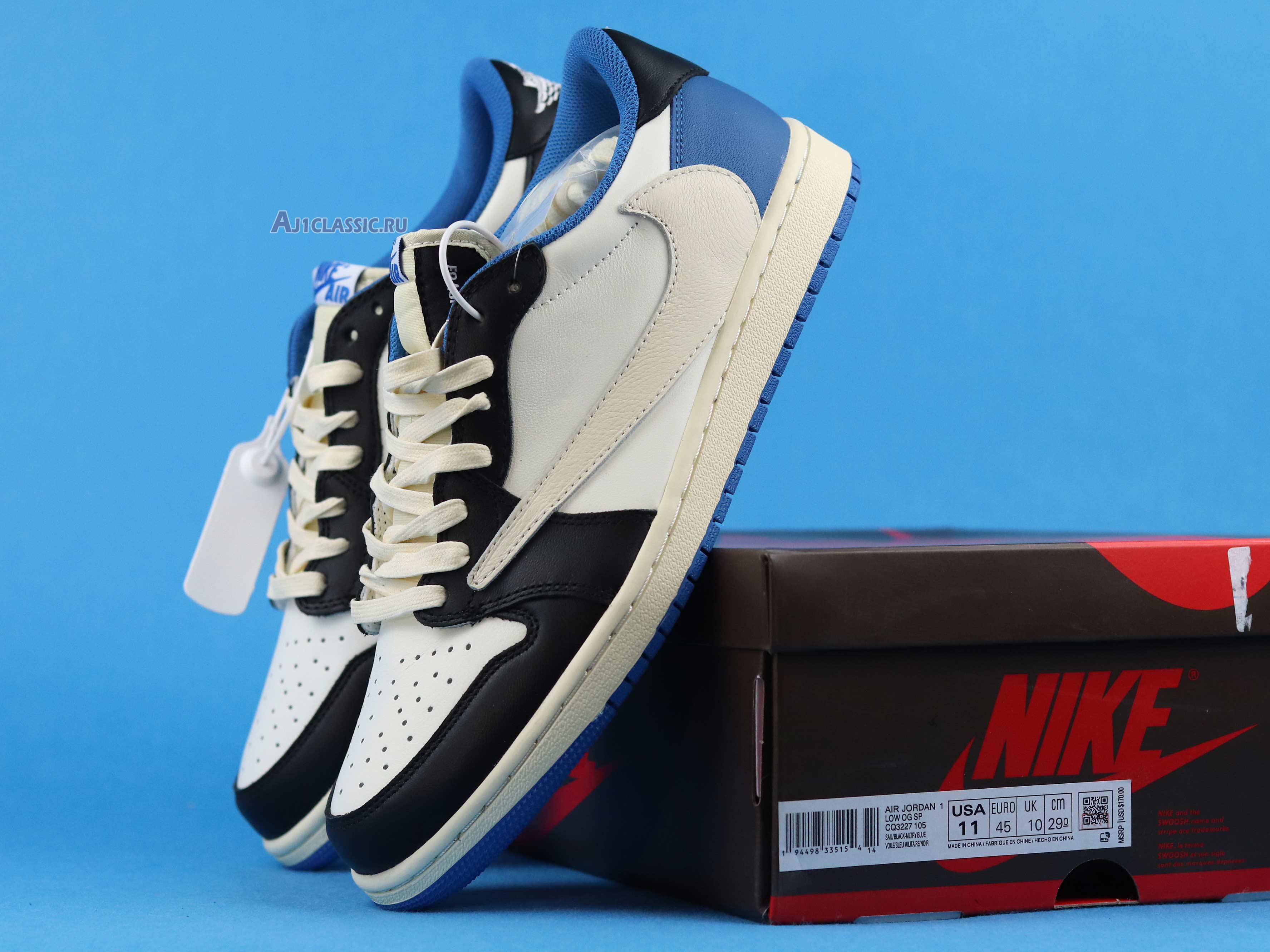 Travis Scott Fragment Air Jordan 1 Military Blue Release