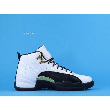 Air Jordan 12 Royalty CT8013-170 White/Black-Metallic Gold Sneakers