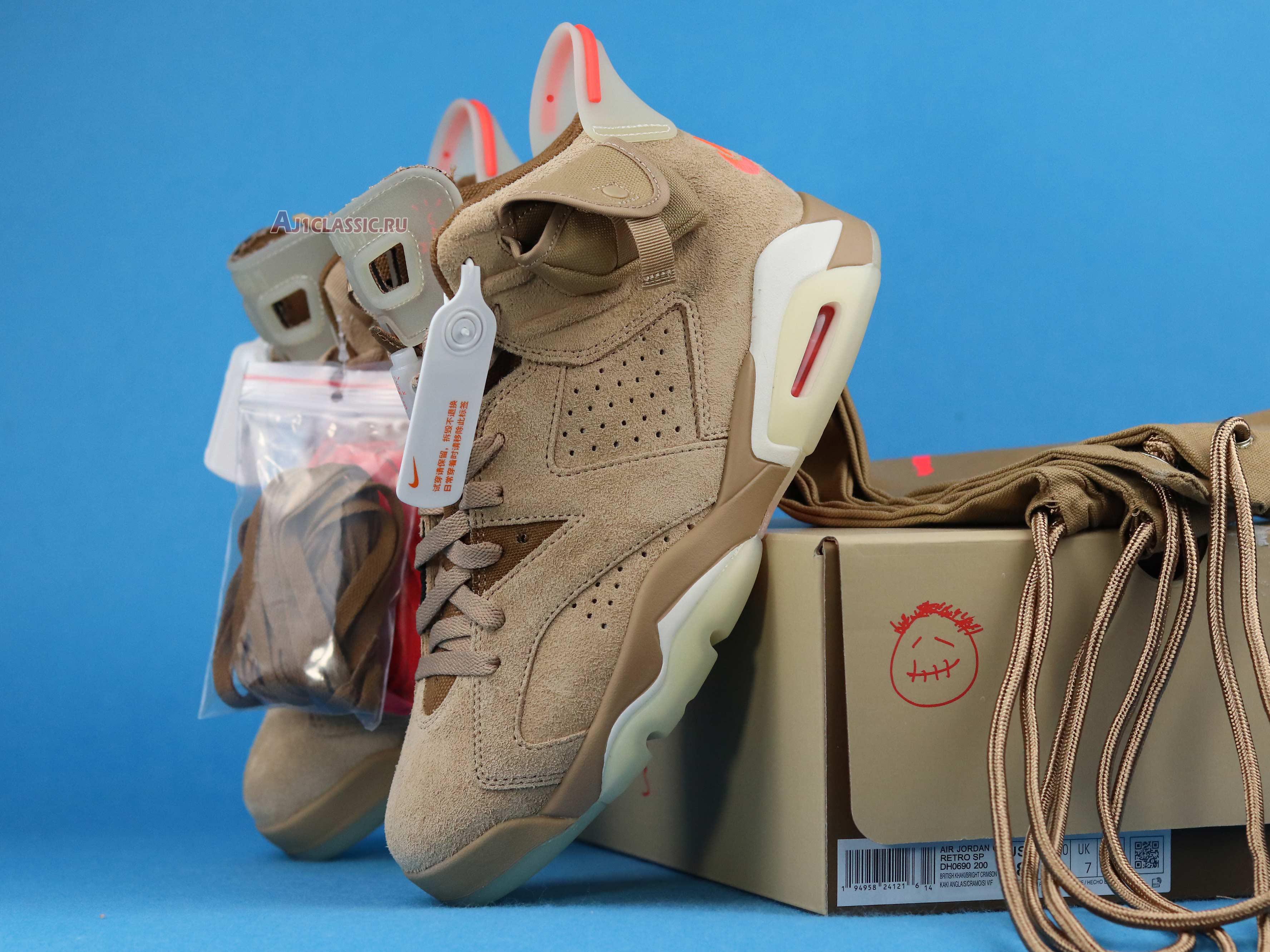 "Travis Scott x Air Jordan 6 Retro ""British Khaki"" DH0690-200"