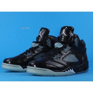 Air Jordan 5 Retro DB Doernbecher 633068-010 Black/White-Black Sneakers