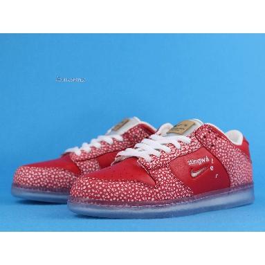 Stingwater x Nike SB Dunk Low Magic Mushroom DH7650-600 University Red/White Sneakers