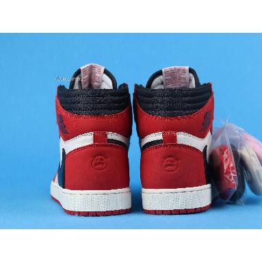 Travis Scott x Air Jordan 1 Retro High OG Chicago CD4487-100-4 White/Black-Varsity Red Sneakers
