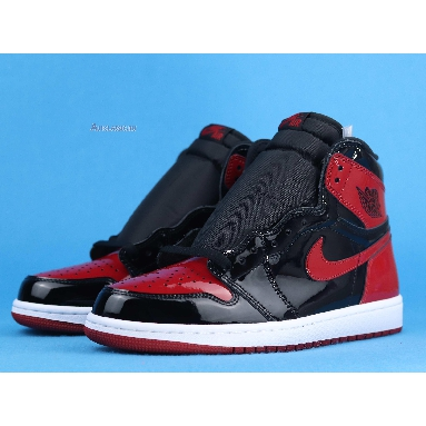 Air Jordan 1 Retro High OG Patent Bred 555088-063 Black/White/Varsity Red Sneakers
